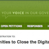 Thumbnail image for Online Petition at White House – Closing the Digital Divide